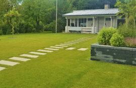 Garten und Landschaftsbau Holzmichel Gartenhaus Rollrasen Kopie